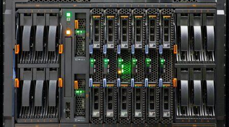 Network Server Rack Panel with hard disks